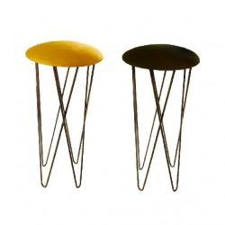 Bar stool Wrought iron nubuk