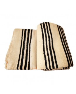 Woolen blanket with black...