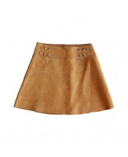 Mid-length skirt in Nubuck...
