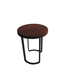 Round side table in beech...