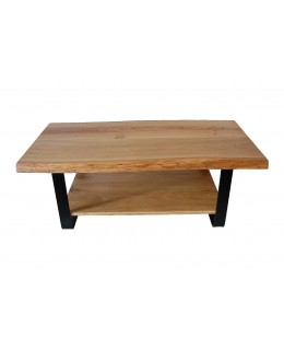 Solid oak coffee table with...