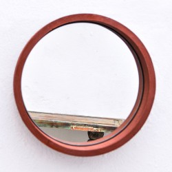 Miroir rond en bois