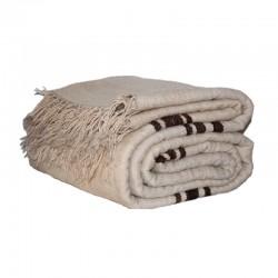 Couverture en laine beige...