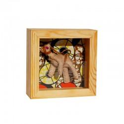 Cadre en bois, motif chameaux
