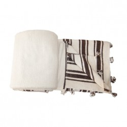 Beige wool blanket with...