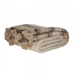 Woolen blanket with brown...