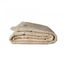Manta de lana beige