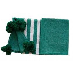 Couverture en laine verte...