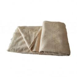 Couverture en laine beige
