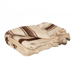 Wool blanket with brown...