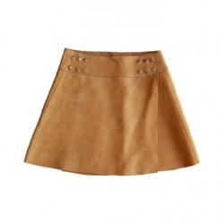 Mid-length skirt in Nubuck...