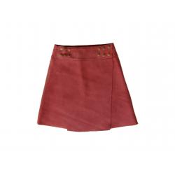 Mid-length skirt in Nubuck.
