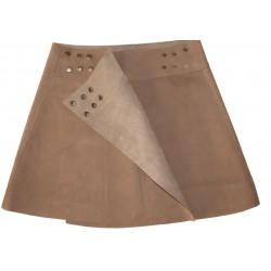 Nubuck short skirt