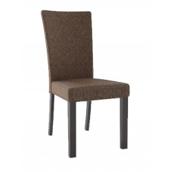 Fabric and wood chair