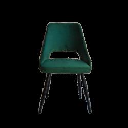 Chaise style rétro arrondie