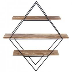 Pine and wrought iron shelf