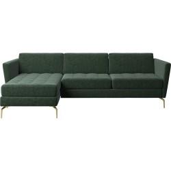 Canapé en tissu en forme de L