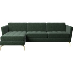 L-shaped fabric sofa