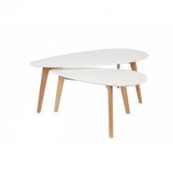 Table basse en hêtre et pin