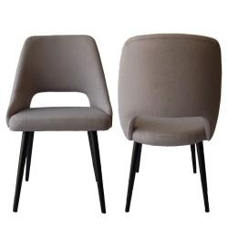 Chaise arrondie style rétro