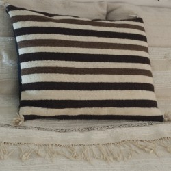 Beige woolen pillowcase...