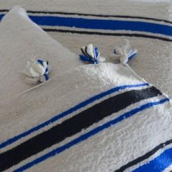 Beige wool blanket with...